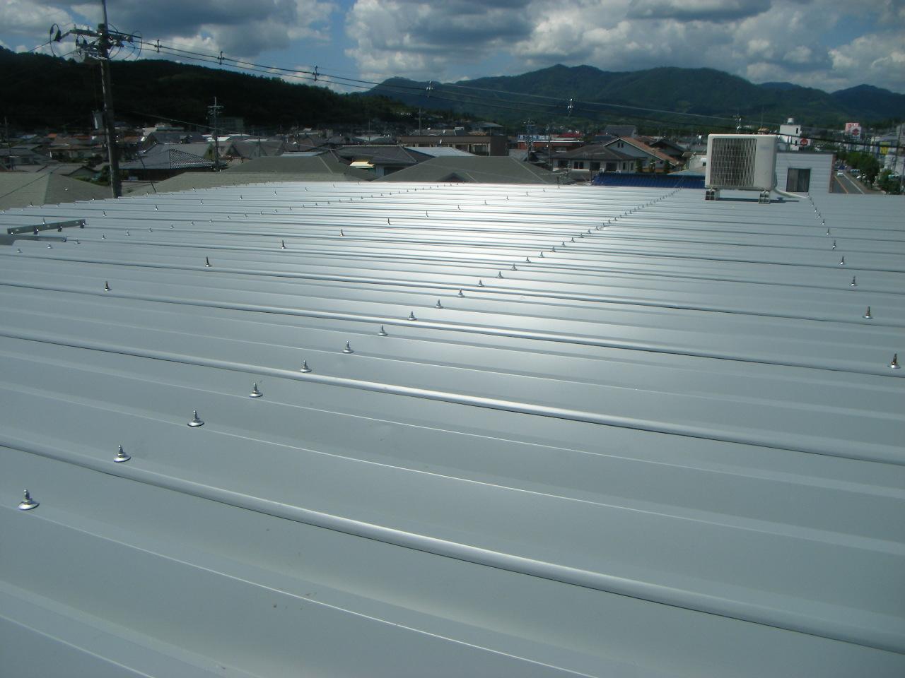 屋上雨漏り 対策屋根施工