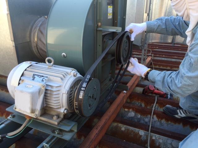 排気ベルト交換2