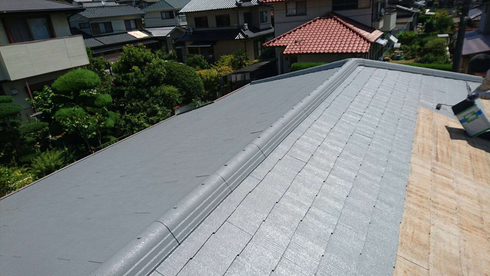 屋根塗り替え2